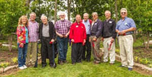 Founders celebrate the dedication of the Founder's Garden